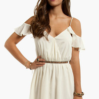 Ruffle Sleeve Dress $58