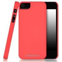 Amazon.com: CaseCrown Cali Snap On Case (Coral Surf) for Apple iPhone 5: Cell Phones &amp; Accessories