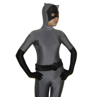 Full Body Gray and Black Lycra Spandex Back Zipper Unisex Animal Zentai Suit Fancy Dress for Halloween sale [TWL1112280081] - 24.19 : Zentai, Sexy Lingerie, Zentai Suit, Chemise