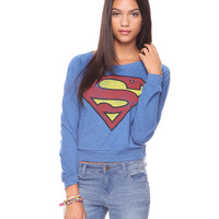 Superman Raglan Top