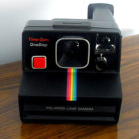 Vintage Polaroid 1980's TimeZero OneStep Land by houseofheirlooms