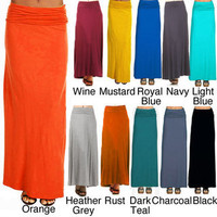 Tabeez Mermaid Maxi Skirt | Overstock.com