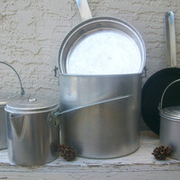 Totally Awesome Vintage Aluminum Camping Cookware by zingaraheart