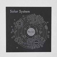 Archie's Press Solar System Map- Black One
