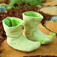 Woodland Fairy Booties by babycricket on Etsy
