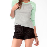 Contrast Raglan Sleeve Top