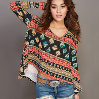 Soft Printed Oversized Tee | Wet Seal