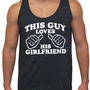 This Guy Loves His Girlfriend Tri-Blend Tank American Apparel UNISEX S, M, L, XL Valentine's Gift