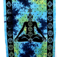 Chakra Yoga Meditation Budha Tapestries, Mandala Tapestry Wall Hanging, Indian Bedspread Bohemian Room Décor, Dorm Bedding Tapestry Art