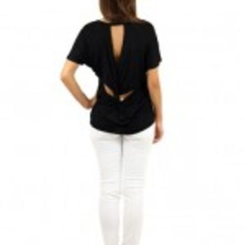 Black Top With Twisted Back