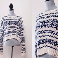 Crop Holiday Sweater