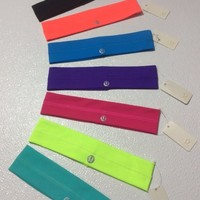 *FREE SHIP*Lululemon Fly Away Tamer Headband Black Orange Blue Purple Pink Green