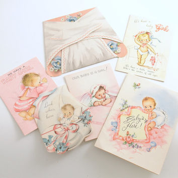 Vintage Baby Announcement Cards