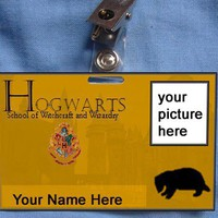 Harry Potter Hogwarts ID Card Hufflepuff Wizard Magic