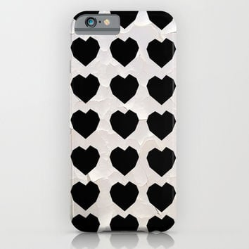 Black Hearts to Crumble iPhone & iPod Case by RichCaspian