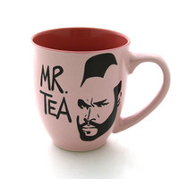 Mr T Tea Mug Pink