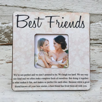 Today A Bride, Sister Gift, Bridesmaid Gift, Best Friend Gift, Maid of Honor Gift, Personalized Picture Frame BEST FRIENDS