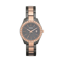 FOSSIL® Watch Collections Stella Watches: Stella Mini Stainless Steel Watch – Smoke and Rose ES3032