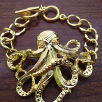Under the Sea Gold Colored Bracelet