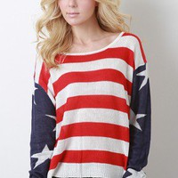 America The Proud Sweater Top