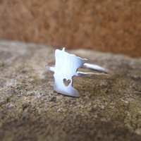 Any State Love Ring in Sterling Silver