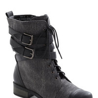 Be Buckle Soon Boot in Charcoal | Mod Retro Vintage Boots | ModCloth.com
