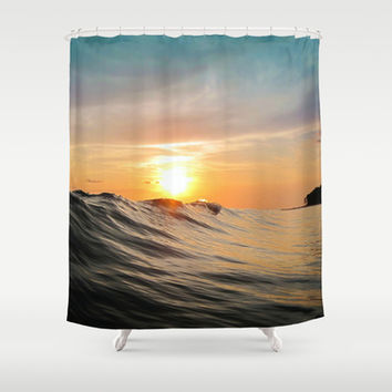 Sunset in Paradise Shower Curtain by Nicklas Gustafsson