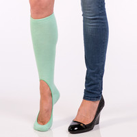 Women's No Show Sock Pair - Lucy Green