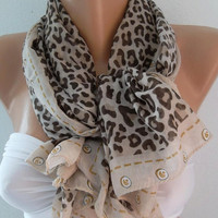 Georgeus  Scarf   Leopard  Elegant   Soft