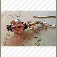Swarovski Crystal Earrings in Pink Chic