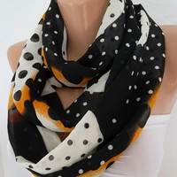 Tube Scarf - Infinity Scarf Loop Scarf Circle Scarf - Elegant - It made with good quality chiffon fabric....Super Loop