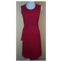 Dress 1960s Vintage Oxblood 60s  shift dress M