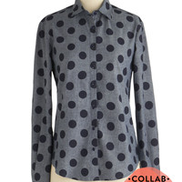 Punctuation Rock Top | Mod Retro Vintage Long Sleeve Shirts | ModCloth.com