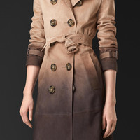 Dégradé Suede Trench Coat