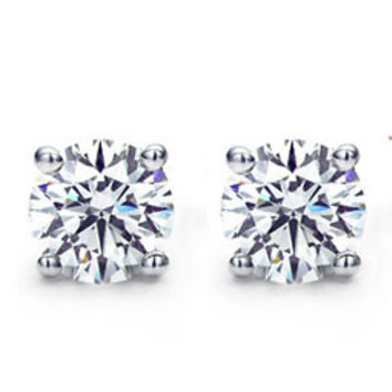 Anita Diamond Stud Earrings 1ct Steven Singer Jewelers