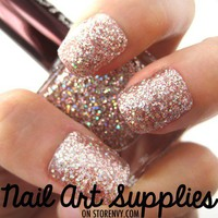 Shattered Diamonds - Shiny Silver Glitter Nail Polish Lacquer 16ml from nailartsupplies