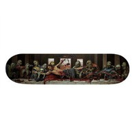Zombie's Last Supper Skateboard Deck from Zazzle.com