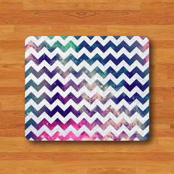White Glitter Galaxy Vintage Mouse Pad Desk Pad MousePad Personalized Rectangle Pad Matte Christmas Gift Computer Pad Hipster Chevron