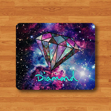 Galaxy Shine Bright Like A Diamond Funny Mouse Pad Quote Abstract Color Hipster Sky Desk Deco Rubber PAD MousePad Personal Gift Computer Pad