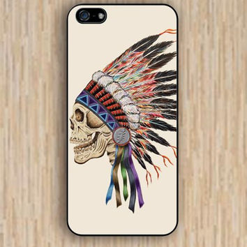 iPhone 5s case Indian skull colorful iphone case,ipod case,samsung galaxy case available plastic rubber case waterproof B029