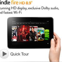"Kindle Fire HD 8.9"", Dolby Audio, Dual-Band Wi-Fi, 16 GB - Includes Special Offers (Previous Generation - 2nd)"