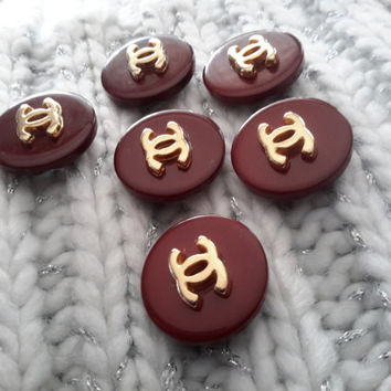 Set of 6 New Vintage Original CHANEL Replacement Buttons
