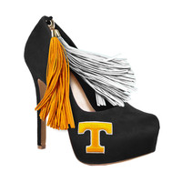 Tennessee Vols Pom Pom High Heel Suede Pumps by HERSTAR