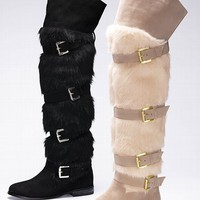 Faux-fur Over-the-knee Boot