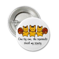 The squirrels steal my sanity pin from Zazzle.com
