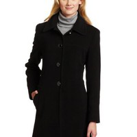 Larry Levine Women`s Single Breasted Wool Walking Coat $84.99
