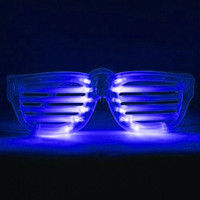 Blue LED Rock Star Shutter Sunglasses