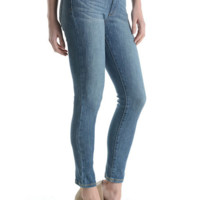 High Rise Washed Ankle Length Skinny Denim