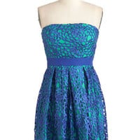 Keep it Reef Dress in Cerulean | Mod Retro Vintage Dresses | ModCloth.com