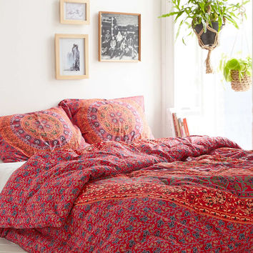 Magical Thinking Red Medallion Comforter- Red